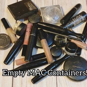 EMPTY 12 MAC containers = 💄💄